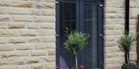 PVCu French doors in Grey