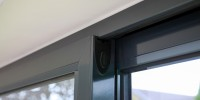 Aluminium sliding doors in Grey
