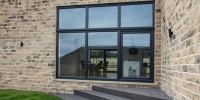 PVCu windows in Grey
