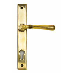 Slimline Newbury Level Handle - Aged Brass