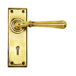 Newbury Level Handle Lever - Aged Brass