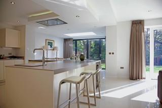 The interior of Forge View, Sheffield featuring both French and bi-fold doors.